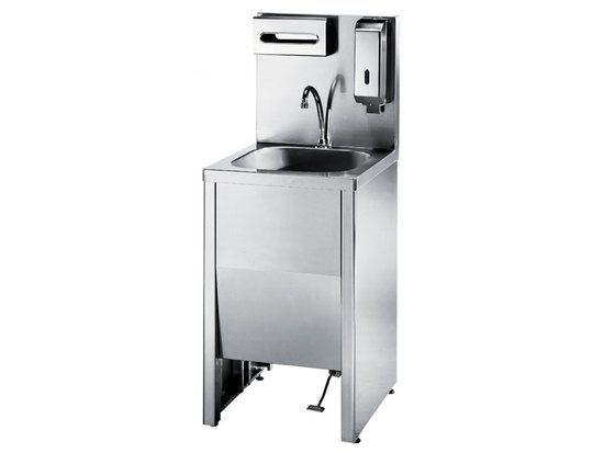 3handwashing cabinet sink with pedal control